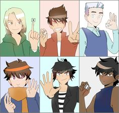 The team // when you're too lazy to hold or 6 fingers up.<<or when your other hand is holding the die Lego Ninjago Lloyd, Ninjago Kai, Lego Ninjago Movie, Lego Movie, Little Kid Shows, Kids Shows, Treasure Planet, Cartoon Tv Shows, Legend Of Zelda Breath