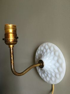 Vintage Milk Glass Light Fixture / Fenton Milk Glass Wall Sconce Old Quilt…