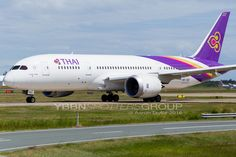 HS-TQE Taxiing out for a Runway 19 departure back to Thailand as TG474. I absolutely love the purple Thai Airways uses in their livery, it catches my eye every time without fail. ^Aaron