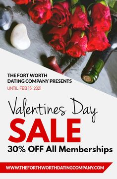 How can you meet single seniors and spice up your dating life? The Fort Worth Dating Company has an offer you can't refuse with a 30% discount on all new memberships. This offer is valid upto February 15, 2021. Get started today @ (817) 345-6402. Valentine Special, Valentines, Find Your Match, Las Vegas Trip, February 15, Meet Singles, Event Calendar, Spice Things Up, Dating