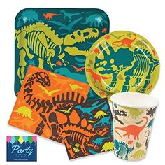 Dinosaur Birthday Party Supplies Pack for 16 people Inclu... https://www.amazon.com/dp/B06Y5VMWF2/ref=cm_sw_r_pi_dp_U_x_wZDdBbH33WEG7