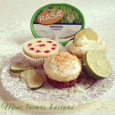 Mini lime cheese cakes - photo blog (Latvian)