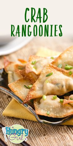 The Crab Rangoonies Recipe Ww Recipes, Skinny Recipes, Cooking Recipes, Recipies, Skinny Meals, Salmon Recipes, Potato Recipes, Asian Recipes, Weight Watchers Snacks