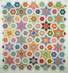 Q is for Quilter » Blog Archive » Grandmother's Flower Garden Star Quilt-a-Long