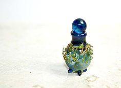 miniature lampwork perfume bottle $18