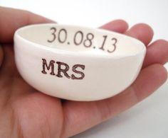 Great brides gift Etsy listing at https://www.etsy.com/listing/123948538/custom-wedding-ring-dish-candle-holder