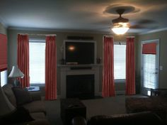 Maybe there is an option for drapes that let light through but still give the effect, or perhaps extending them out on the wall so it leaves the entire window open? Description from addicted2decorating.com. I searched for this on bing.com/images