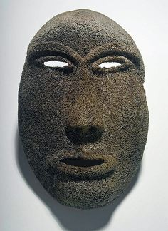 Pacific Northwest Coast, Early / Mid 20th century CE. Mask carved from whale bone with aged patina. Эскимосы.