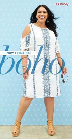 Breezy and so right for the season, a plus-size boho dress is the best way to welcome the sun. With cold-shoulder detail and tassled sleeves, plus-size style is amped up for summer. Casual, beachside date nights just got hot!