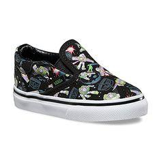 VANS Classic SlipOn Disney Pixar Toy Story Sneakers InfantToddler Shoes 55  M US Toddler Buzz Lightyear 3c106ef08