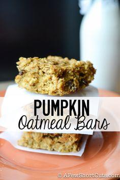 Pumpkin Oatmeal Bars #recipe