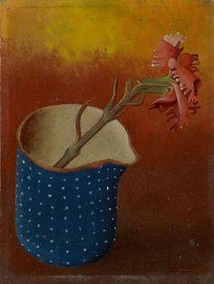 "Otto Tschumi (Swiss painter, -""Bern Nelke im Milchtopf"" (Carnation in Milk Pot), 1941 Max Ernst, Bern, Art Object, Carnations, Craft Items, Exhibitions, Still Life, The Past, Objects"