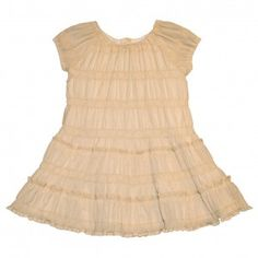 VESTIDO DE TEJIDO ARRUGADO DE TECKEL GREEN  Más moda infanti online en www.yosolito.es/tienda
