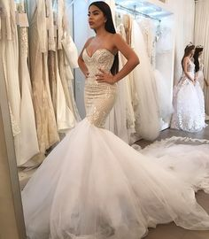 Sleeveless Mermaid Wedding Dresses with Lace Bridal Gowns Custom Size 2 4 6 8 10 Custom Wedding Dress, Cheap Wedding Dress, Dream Wedding Dresses, Bridal Dresses, Lace Wedding, Wedding Beach, Modest Wedding, Wedding Bride, Bridesmaid Dresses
