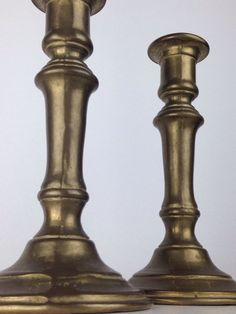 "Antique GATCO Brass Candlesticks Candle holders Italian Heavy 8"" Tall 3 lb 13 oz #GATCO"