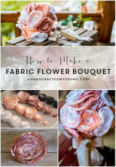 DIY Tutorial DIY Fabric Flowers / DIY Fabric Flower Bouquet - Bead&Cord