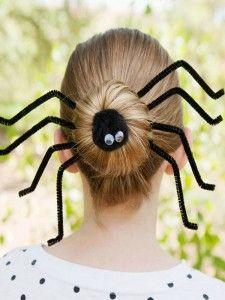 Temeroso peinado araña para Halloween - Para Más Información Ingresa en: http://tiposdepeinados.com/temeroso-peinado-arana-para-halloween/