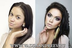 Russian Makeup: Before And After | Vadim Andreev