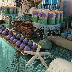 The Little Mermaid Inspired Dessert Table