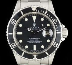Rolex Transitional Submariner Gents Stainless Steel Matte Black Dial 16800