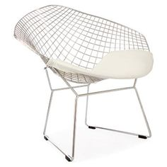 White Bertoia Chair
