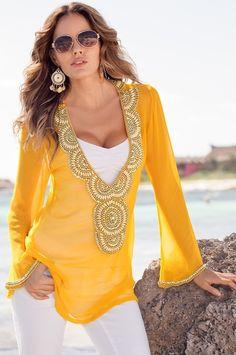 Gold embellished tunic