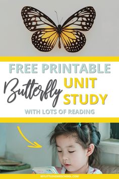 Are you looking for a quick lesson for your elementary-aged kids? Download this fun and easy printable butterfly unit study for your kids. #homeschool #homeschooling #unitstudy #homeschoolprintables #activitiesforkids Hands On Activities, Preschool Activities, Printable Butterfly, Unit Studies, Nature Study, Kids Education, Homeschooling, Literacy, Bugs