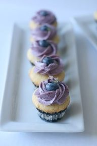 Blueberry Lime Cupcake