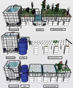 4 Easy Steps to Set-Up Your Own Backyard Aquaponics System - Tools And Tricks Club Aquaponics System, Hydroponic Farming, Aquaponics Greenhouse, Aquaponics Fish, Fish Farming, Indoor Aquaponics, Aquaponique Diy, Growing Plants, Fish Tank