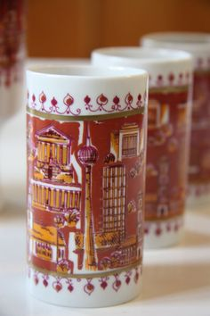 East Berlin Architectural Series Glasses by RetroKombinat on Etsy, $50.00