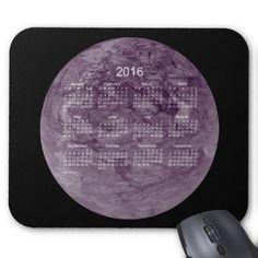 2016 Purple Calendar by Janz Mousepad