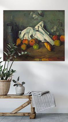 Kunstwerk: 'Paul Cézanne. Melkkan en appels' van uit de oude meesters collectie