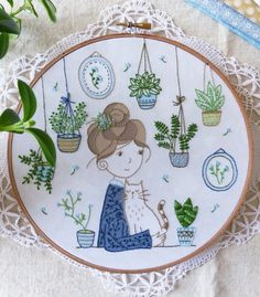 Green Thumb Modern Embroidery Kit | Modern Embroidery Kits for Beginners