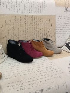 Toms boot wedge, goes with everything and really comfortable!