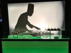 Unique Cocktail Hour Ideas to Wow Your Guests: Chef Shadow Box from Wolfgang Puck Catering
