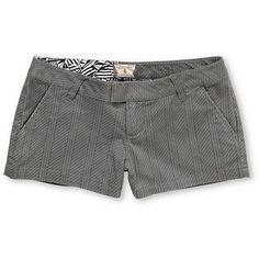Volcom Girls Frochickie Grey Pinstripe Shorts  $39.95