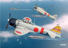 Zero Ww2 Aircraft, Military Aircraft, Aviation World, Aviation Art, Fighting Plane, In The Air Tonight, Imperial Japanese Navy, Ww2 Planes, Vintage Airplanes