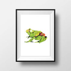 Check out this item in my Etsy shop https://www.etsy.com/uk/listing/531653554/frog-print-a4-green-frog-print-lily-pad