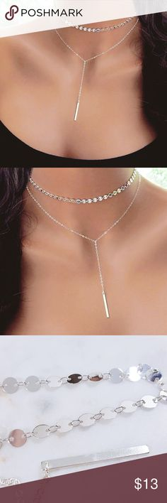 Women's Chocker | Necklace •Brand New!!! •Women's Bar Coin Chocker Necklace •Silver •Gold ♡ Price Is Firm ♡ Jewelry Necklaces