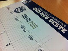 Últimos trabajos: diseño e impresión de almanaque institucional para el Club Quilmes Oeste