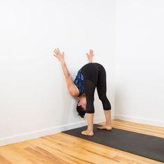 You'll Feel So Much Better After This Restorative Wall Yoga Sequence Yoga iyengar yoga Iyengar Yoga, Ashtanga Yoga, Bikram Yoga, Vinyasa Yoga, Kundalini Yoga, Yin Yoga Sequence, Yoga Sequences, Stretches For Tight Hamstrings, Yoga Poses