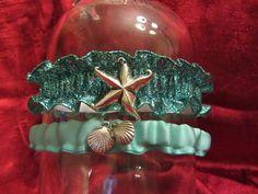 Under the Sea Mermaid Glitter Garter Set by RuthinCraftsville, $10.00