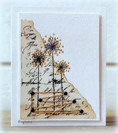 Use Letters from Friends Sentiment stamp and SU Allium stamp from Long Stemmed to recreate this card.