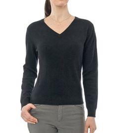 Womens Cashmere & Merino V Neck Sweater Wool Overs. $39.00
