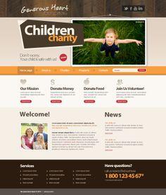 Generous Heart Children Charity Joomla Template by Dynamic Template