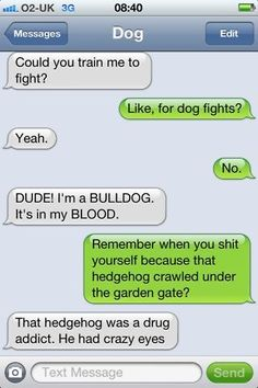 Texts With/From Dog