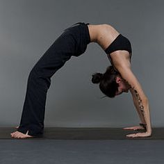 yoga practice woman slender fitness streching