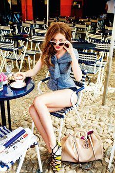 Portofinoby Ellen von Unwerth for Dior Cruise 2012, featuring model Jac Jagaciak.