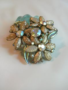 Vintage '60's or 50's brooch. Great patinapainted by MyRockinHeart, $26.00