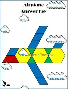 Transportation Pattern Block Puzzle #airplane